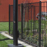 Wrought iron Commercial Fence Sacramento