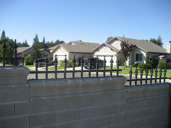 Sacramento Wrought Iron Fence