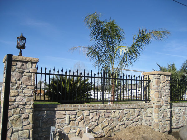 Sacramento Ornamental Wrought Iron Fence