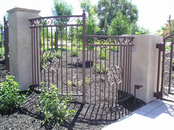 Residential Ornamental Wrought Iron Fence in Sacramento